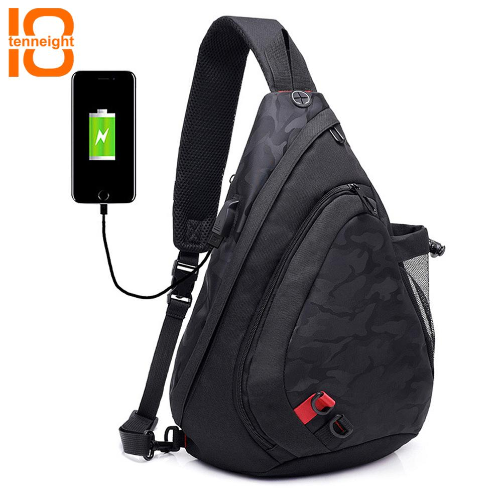9b01b98fc3 TENNEIGHT Sling Chest Bag Shoulder Crossbody Backpack With USB Charging  Port For Women Men With Water Bottle Holder Hiking Bag Canada 2019 From  Purpurpur
