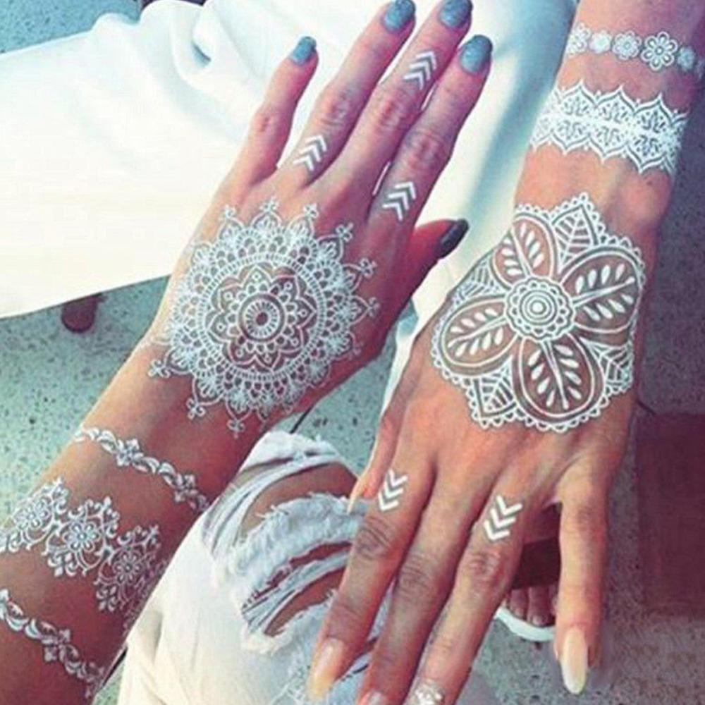 Henné Blanc acheter 1 pièce blanc couleur indien tatouage henné pâte cône pour