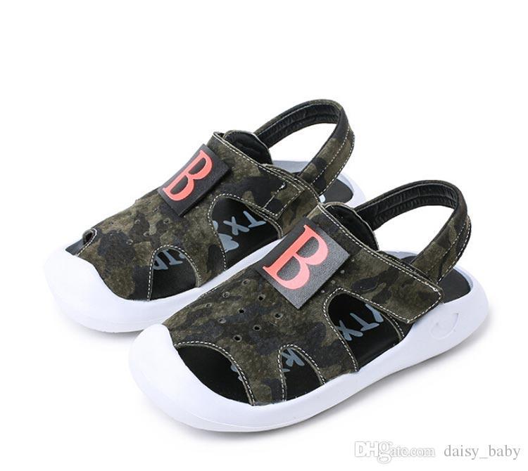 cca3c607d Compre Sandalias De Cuero Genuino De Verano Niño Unisex Niños Sandalia  Antideslizante Zapatos De Niño Para Niña Sandalias De Playa Único Bottom  Zapato   24 ...