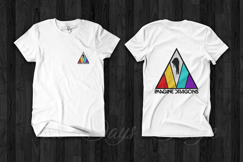 9679367aba Compre IMAGINE DRAGONS Evolve World Tour Camiseta De Concierto 2018 Merch  Triangle Logo 100% Algodón Camiseta De Manga Corta Con Cuello En O Camiseta  ...