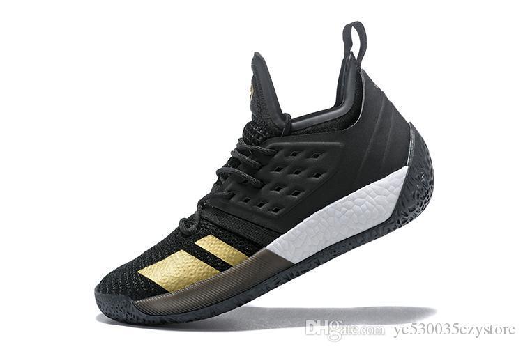 2019 2018 Harden Vol 2 Mens Basketball Shoes Black White Orange
