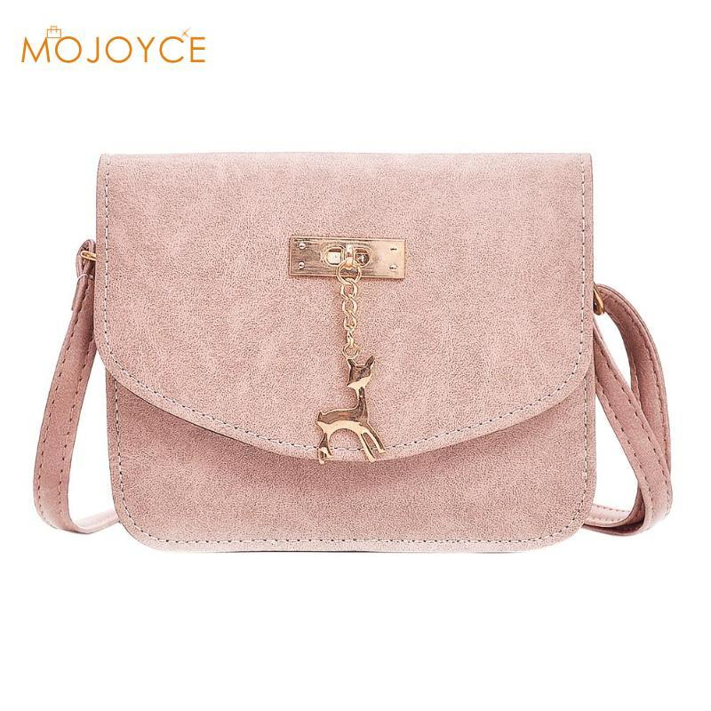 8f203849370b7e Fawn Ornaments Simple Small Shoulder Bags Women Handbag Vintage PU Leather  Crossbody Bag For Girl Messenger Bag Fashion Hot Sale Purses For Sale  Leather ...