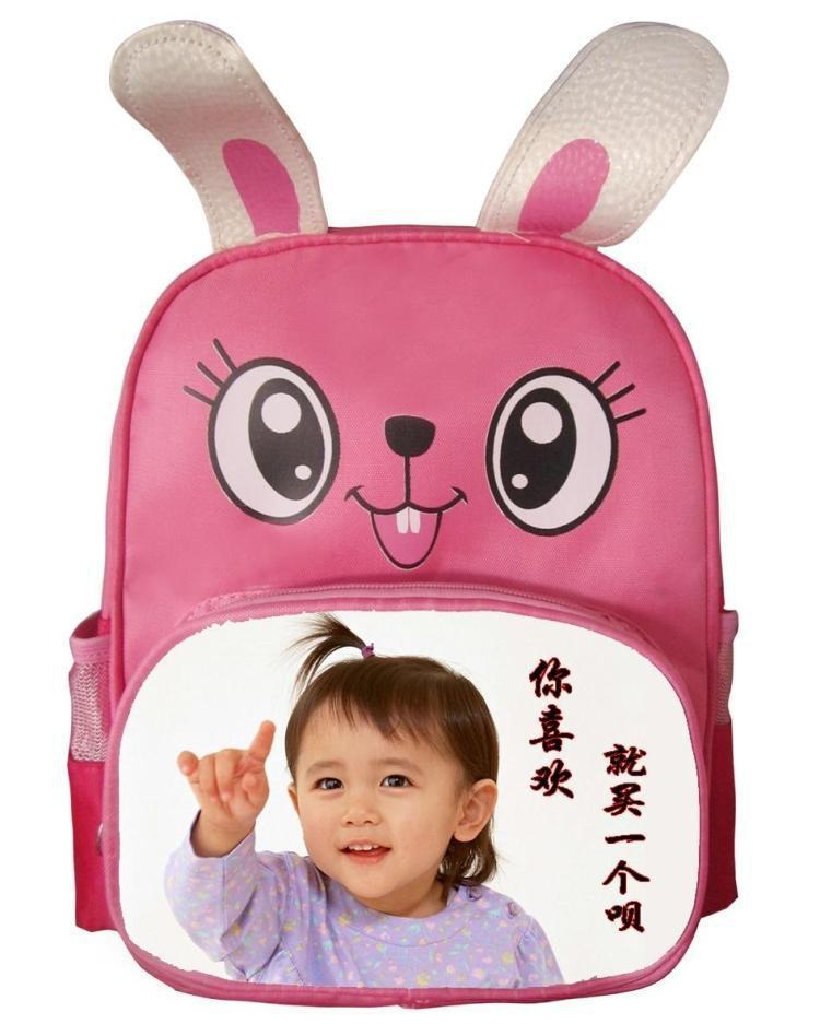 zainetto bambini ragazze borse bambino con i tuoi bambini foto personalizzata o design o nome del testo sublimazione Adatto 4 a 6 anni