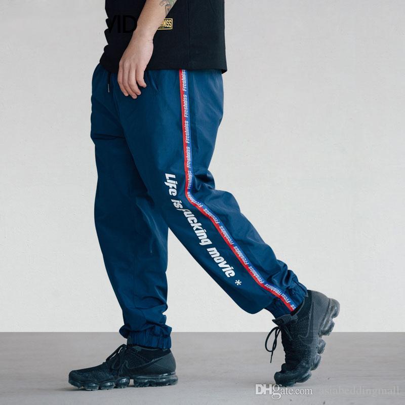 Acquista Pantaloni A Maniche Lunghe Con Stampa Nastro Harem Pantaloni 2018  Hip Hop Streetwear Pantaloni Moda Uomo Casual Pantaloni Larghi Swag A  39.6  Dal ... 7d929357bbb