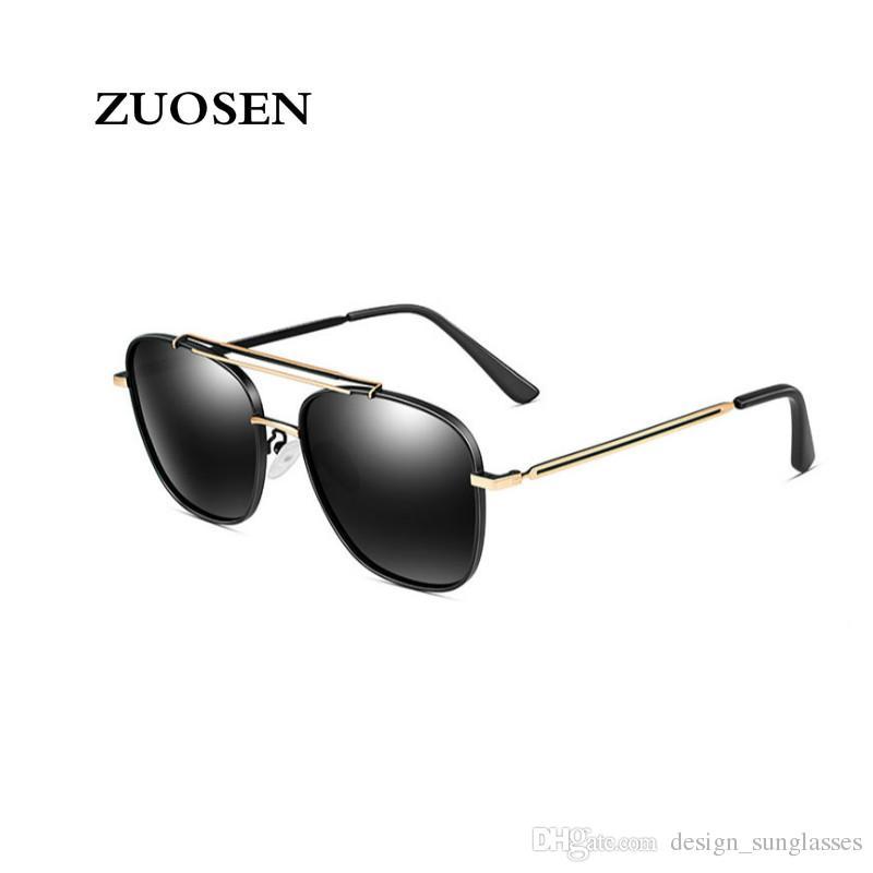 2aada9755d ZUOSEN High Quality Designer Sunglasses Fashion Pilot Polarized Lens ...