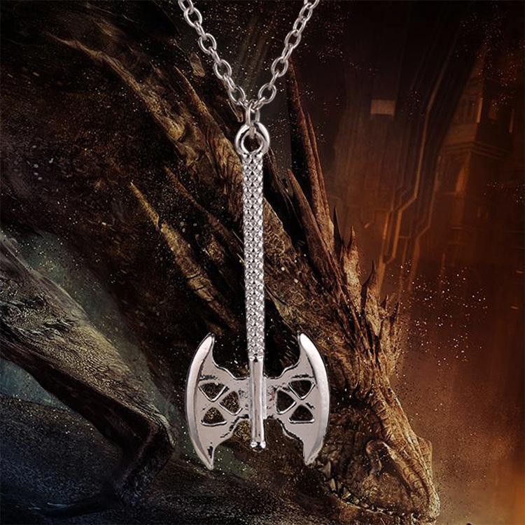 El Hobbit Senor De Los Anillos Collar Enano Gimli Hacha Collar Colgante Collar De La Joyeria Para Hombres Y Mujeres