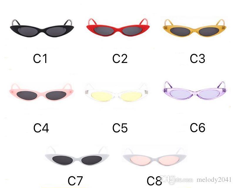 2018 New Slim Lunettes De Soleil De Mode En Métal Charnière Ovale Cadre Cool Petits Lunettes De Soleil Pour Femmes Et Hommes UV400 Candy Couleurs