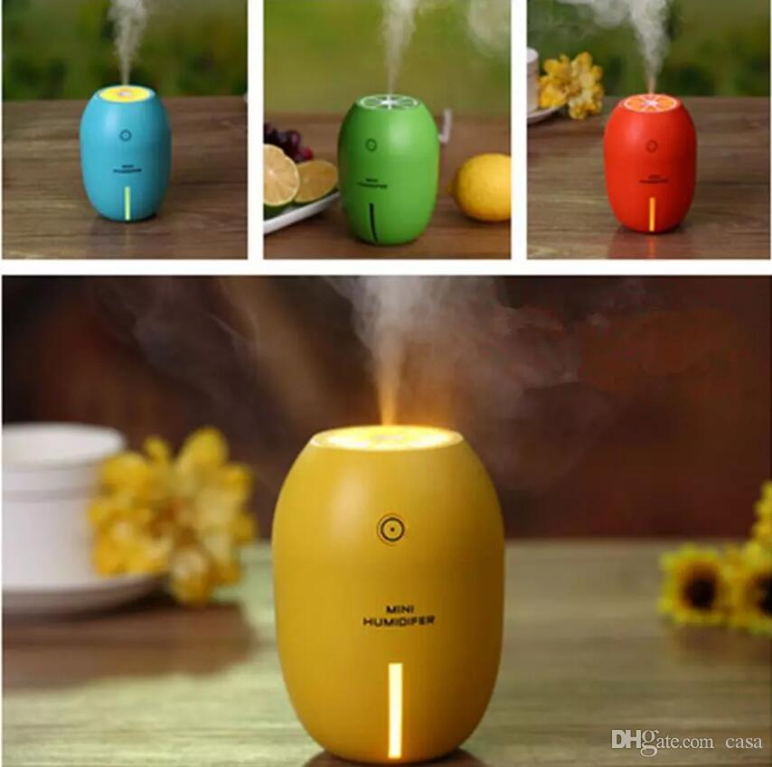 180ML Mini Lemon Ultrasonic Humidifier Air Diffuser Purifier Atomizer USB Portable Air Purifier Mist Maker For Home Office Car