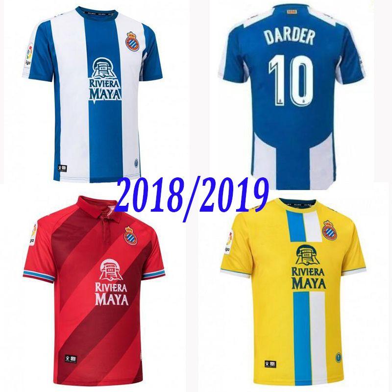 Más Nuevo 2018 2019 La Liga RCD Espanyol Camiseta 18 19 Local IGIESIAS  Camiseta De Fútbol P.PIATTI BAPTISTAO Camiseta De Fútbol Española Por  Dd112233 37cd4f7627292