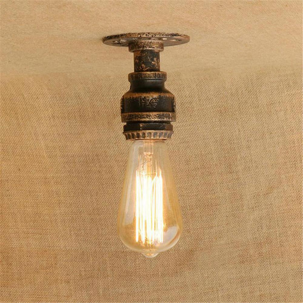 2019 2017 new mini pipe ceiling lights vintage e27 loft surface mounted ceiling light fixtures industrial iron pipe lamps promotion from hogon