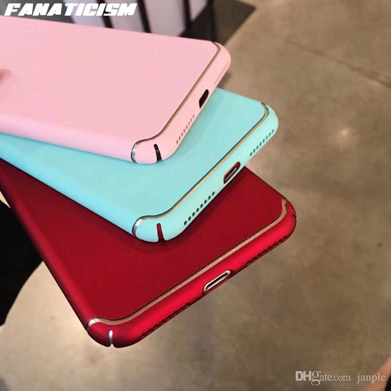 Fanaticism Luxury Fuel injection Matte Case For iphone X 6 6s 7 8 Plus Colorful PC Plastic Hard Scrub Matte Fitted Back Cover