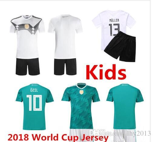 a065f9b67 Top Quality 2018 World Cup Germany Soccer Jersey Kids Kit  10 OZIL ...