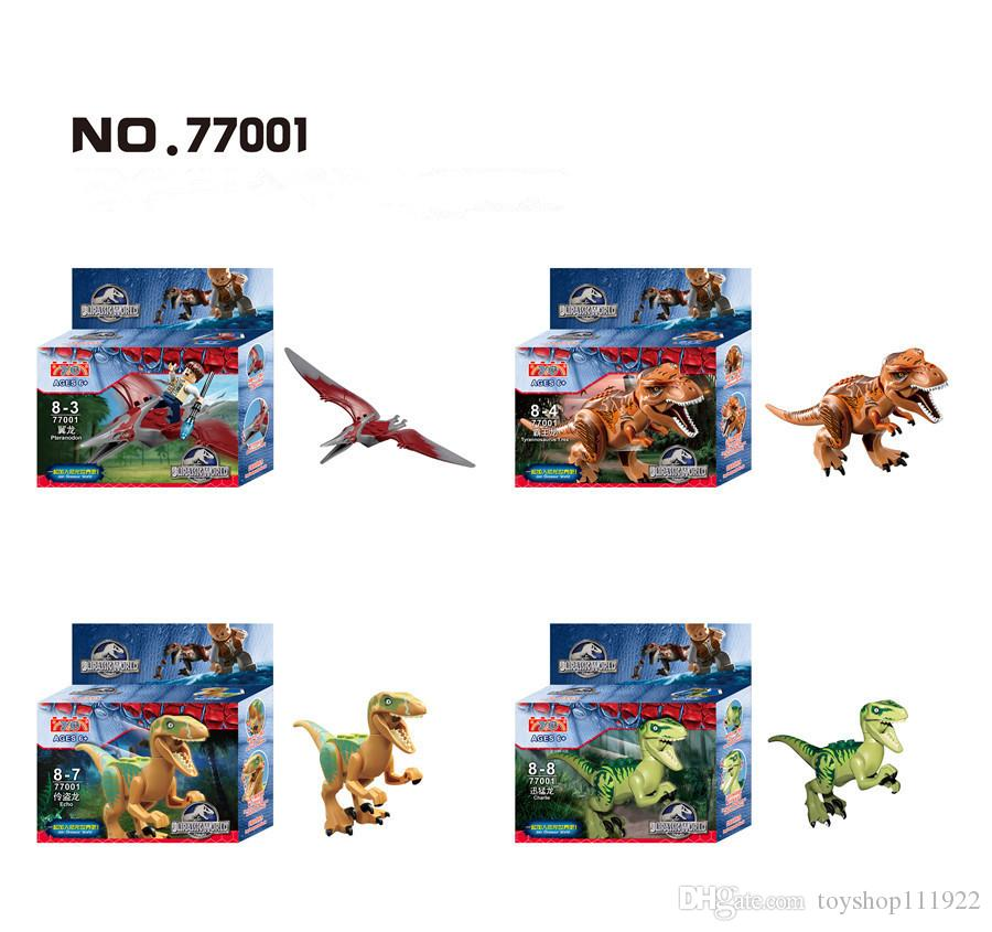 Dinosaure Monde Tyrannosaurus Boîte Blocs Modèle Parc Film Triceratops De Cadeau Enfants Jurassique Jouets Construction If7vYgb6y