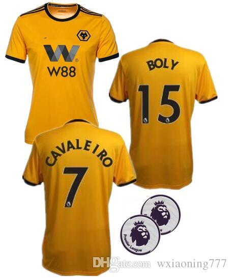 5ea2f6b45 2019 2018 2019 ADULT HOME SHIRT Wolverhampton Wanderers Customized Top Thai  Quality Soccer Jerseys Diogo Jota Leo Costa WOLVES FC Football Shirt From  ...