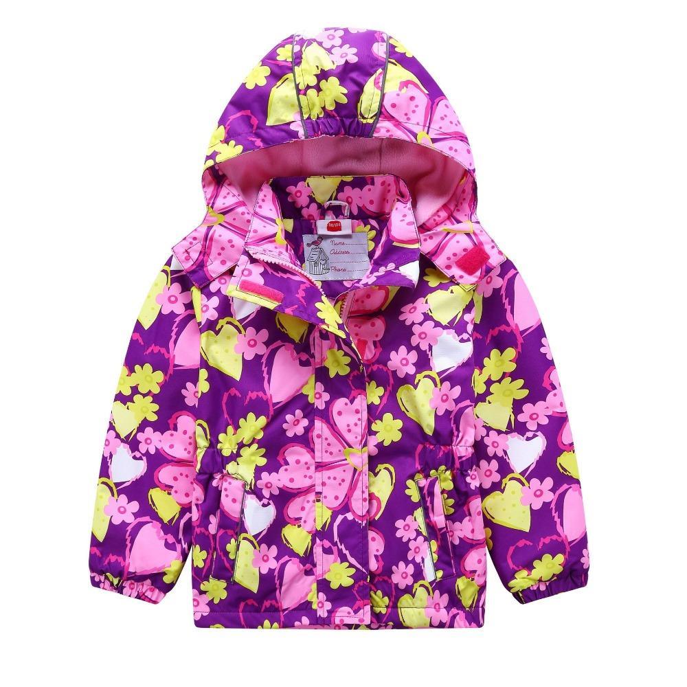 7acf18c54d15 Waterproof Windproof Children Outerwear Baby Girls Jackets Children ...