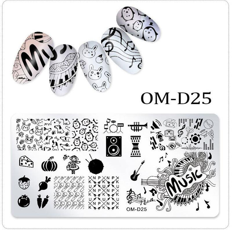 Nail Stamping Plates Flower Animal Geometric Cartoon Pattern Nail Art Stamp Stamping Template Image Plate Stencil Nails Tool