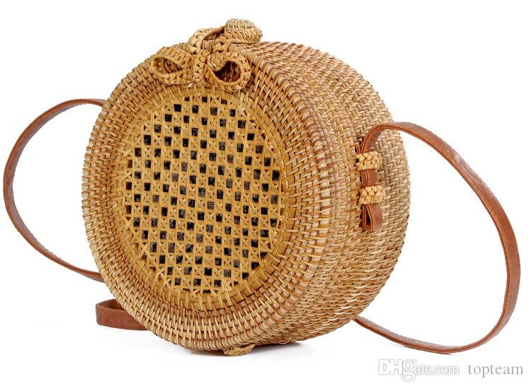 Multi-style Summer Shoulder Straw Bags Rattan bag hollow sun flower travel beach bag wholesale straw bag hand-woven