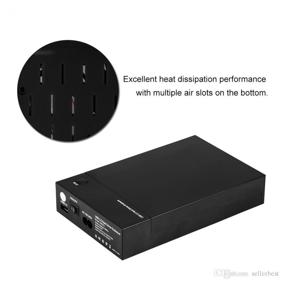 USB 3.0 외부 2.5 인치 3.5 인치 SATA 하드 드라이브 인클로저 SSD HDD 디스크 케이스 커버 100 % 새로운 브랜드