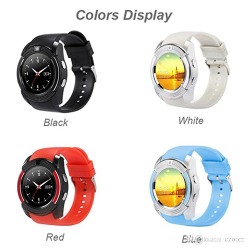 Original V8 Smart Watch Bluetooth SmartWatch With Camera SIM IPS HD Full Circle Display Smart Watch For Android System Free DHL