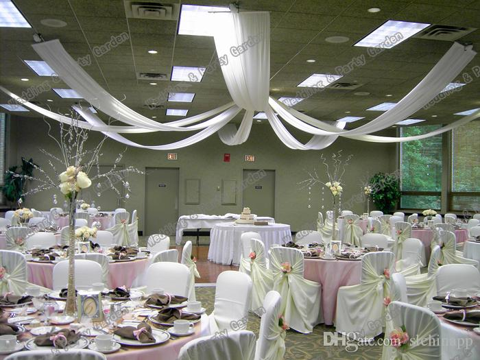Drapé auvent de toit de mariage pour la décoration tissu de mariage longueur 10m x 0.45m large /