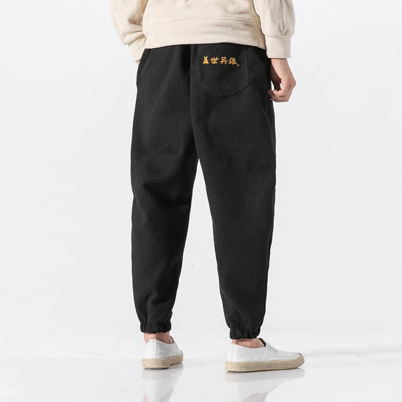 Men Thick Wool Harem Pant Winter Fashion Casual Warm Loose Woolen Trousers Male Hip Hop Streetwear Joggers Pants Sweatpants