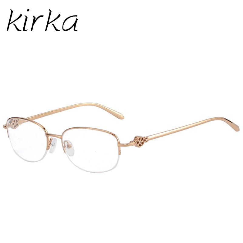 Kirka Brand Clear Eyeglasses Women Stainless Steel Optical Glasses ...