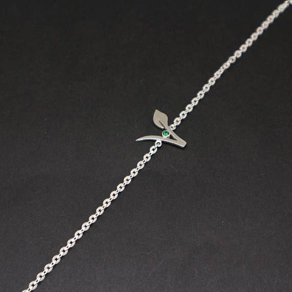 Vegan Bracelet Jewelry Green Stone Vegetarian Symbol Bracelets Gift For Birthday Housewarming YLQ0654 Charm Bangles Rose Gold Bangle