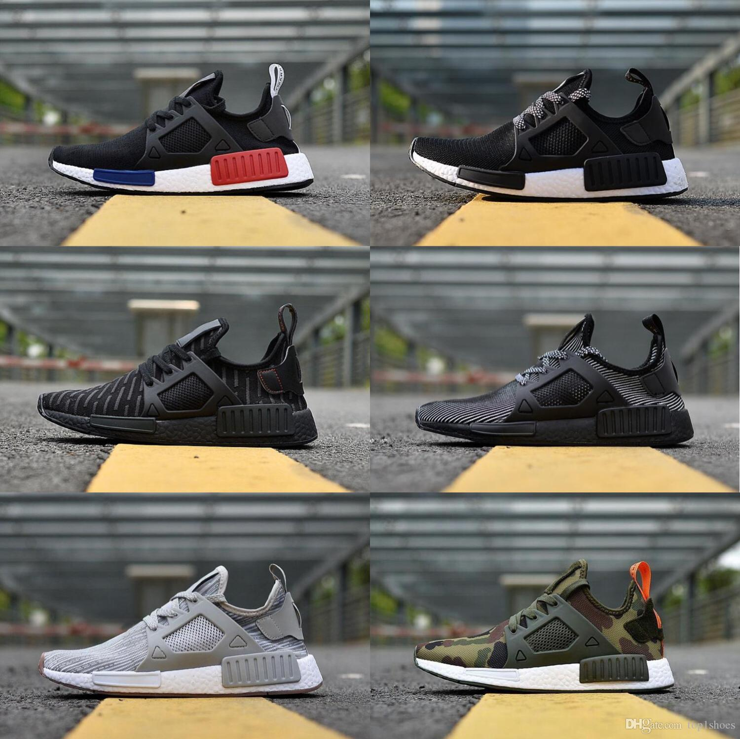 19c6d6019eb45 Cheap Wholesale NMD XR1 PK Running Shoes Wholesale Cheap Sneaker NMD XR1  Primeknit OG PK Zebra Bred Blue Shadow Noise Duck Camo Fall Olive