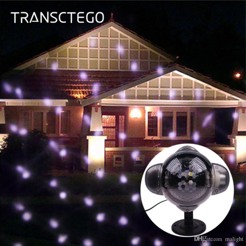 2018 snowfall outdoor led christmas lights waterproof snowflake lamp with rf remote control for landscape yard tree light from malight