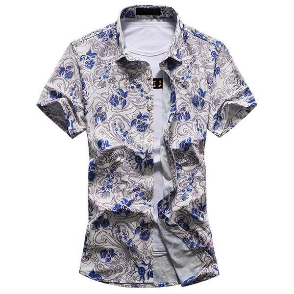 Homme Chemise Aloha Camisa Plage Imprimé Casual Masculina Acheter f7O4nqaq