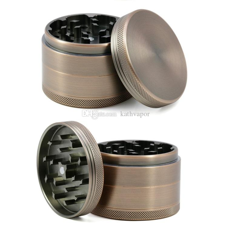63mm zinc alloy grinder 4 parts Cnc Teeth Tobacco Dry Herb Grinders for Smoking Space Case Grinder easy clear