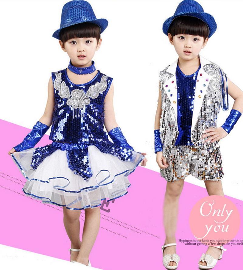 060c159d6 2019 New Children S Jazz Dance Costume Sequins Modern Dance Clothing ...