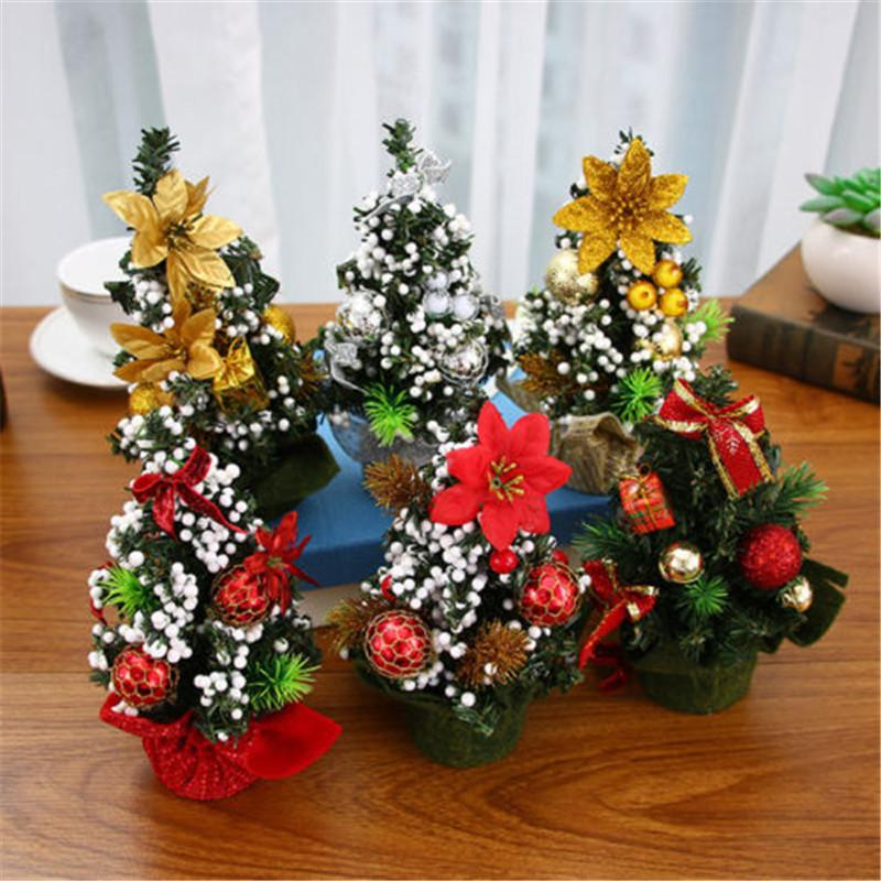 Au Stock Mini Christmas Tree Decor Desk Decor Small Party Ornaments Xmas Gift