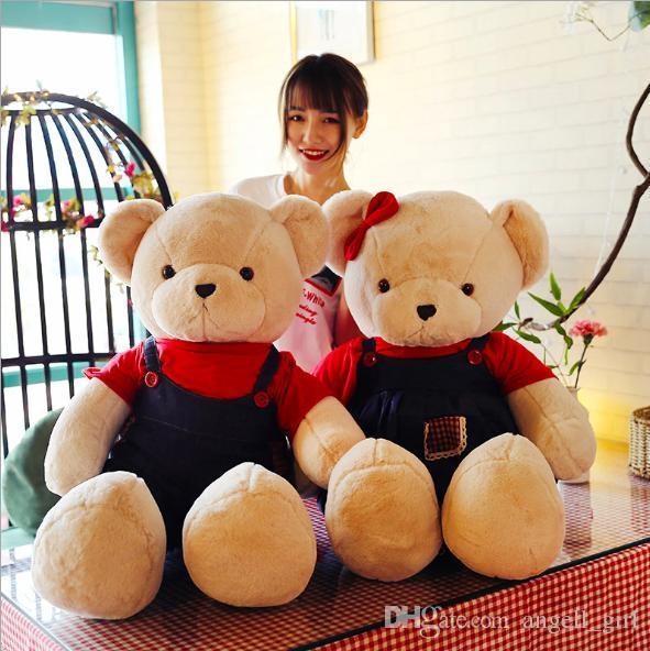 cbb36721503 2019 Giant Teddy Bear Plush Toys Pillow Kids Huge Soft Stuffed Animals  Children Big Lovely Baby Doll For Women Gift From Angell girl