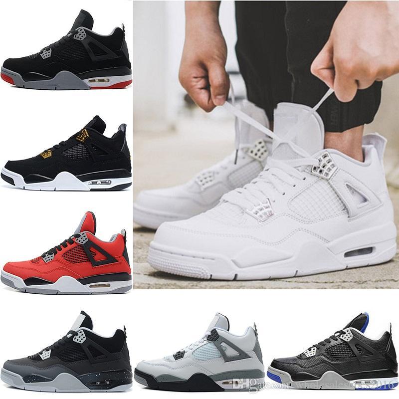 4737ec98618f New Designer 4 Men Basketball Shoes Motorsport Pure Money Bred Oreo 4s Sports  Fire Red White Cement Sneaker Size 41-47 Basketball Shoes Sports Shoes ...