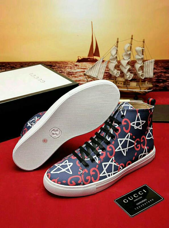 02bb03d07b8 Men Leather High Top Sneaker With Bee Blooms Snake Dragon Tiger Head Feline  Shoes WOMAN MAN SNEAKERS SPORTS SHOES Blue Shoes Shoe Boots From  Gaoqingping2018 ...
