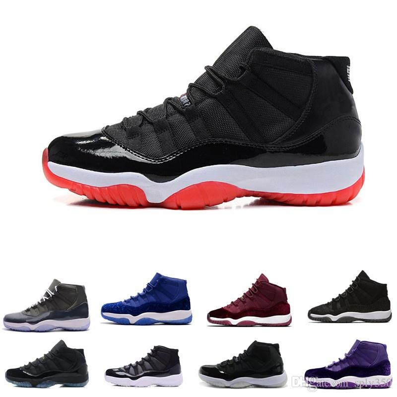 Wholesale 11 Prom Night Gym Red Midnight Navy Black Stingray Bred Concord  Space Jam Shoes 11s Mens Womens Kids Basketball Sneaker Basketball Shoes  For Sale ... bfb7bef64f