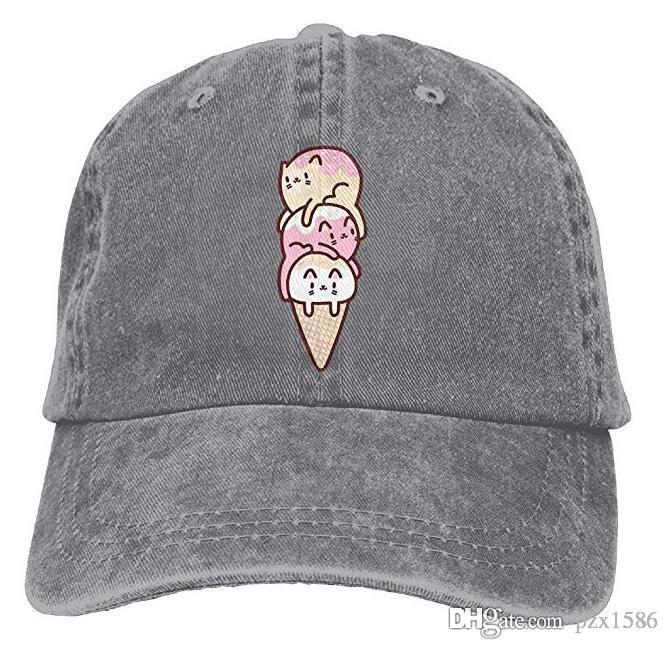 59ff5cfb31b6b Pzx  Ice Cream Cats Premium Cowboy Baseball Caps Dad Hats Black Hat Cap  Baseball Cap Online with  11.8 Piece on Pzx1586 s Store