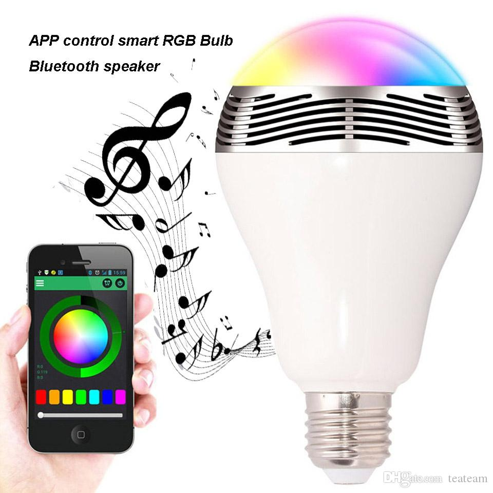 Wireless Bluetooth Speaker Lampe Led E27 Rgbw Bulb Music Playing