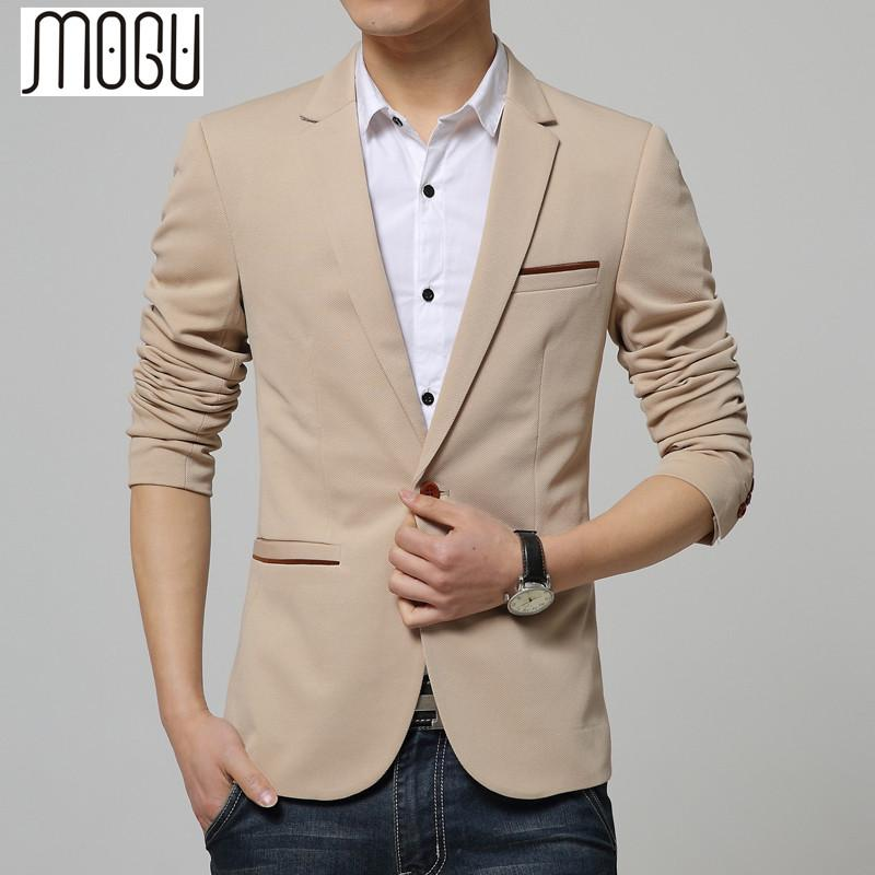 e1a32ea26fc4c 2019 MOGU Men Blazer 2017 5xl Plus Size Men Blaser Masculino Spring Casual  Suit Cotton Slim Suit Jackets Regular Blazers From Cagney