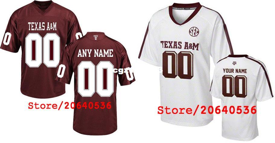 d181383362e 2019 Cheap Custom Texas A M Aggies College Jersey Mens Women Youth Kids  Personalized Any Number Of Any Name Stitched Red White Football Jerseys  From ...
