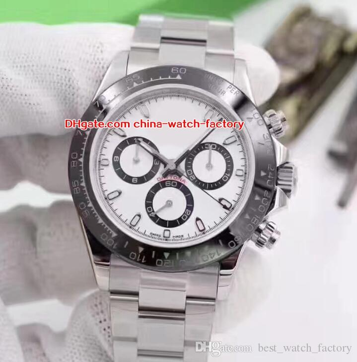 6 Color Luxury High Quality Watch 40mm Cosmograph 116500 116506 116520 116509 Stainless No Chronograph Mechanical Automatic Mens Watches