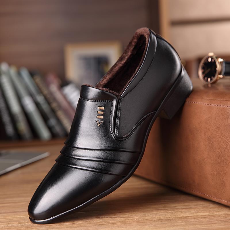 pretty nice 10d0f 25c99 OSCO formale Schuhe Herren Leder Hochzeit Schuhe heren schoenen Oxford für  Männer Kleid 2018 Müßiggänger