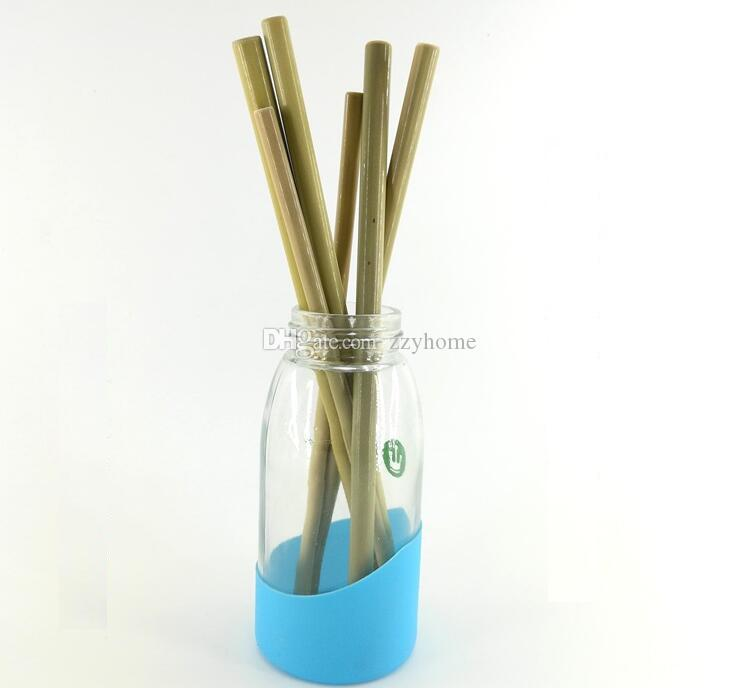 Grosshandel 23 Cm Bambus Trinkhalme Grune Farbe Naturliche Bambus