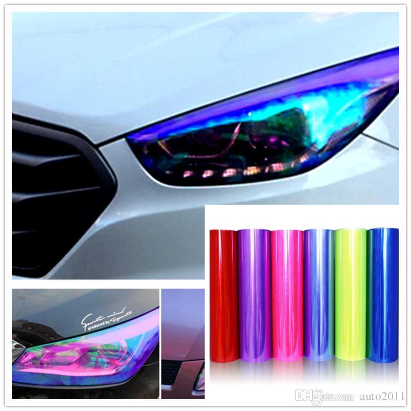 2018 Car Tint Headlight Taillight Fog Light Vinyl Smoke Film Sheet ...
