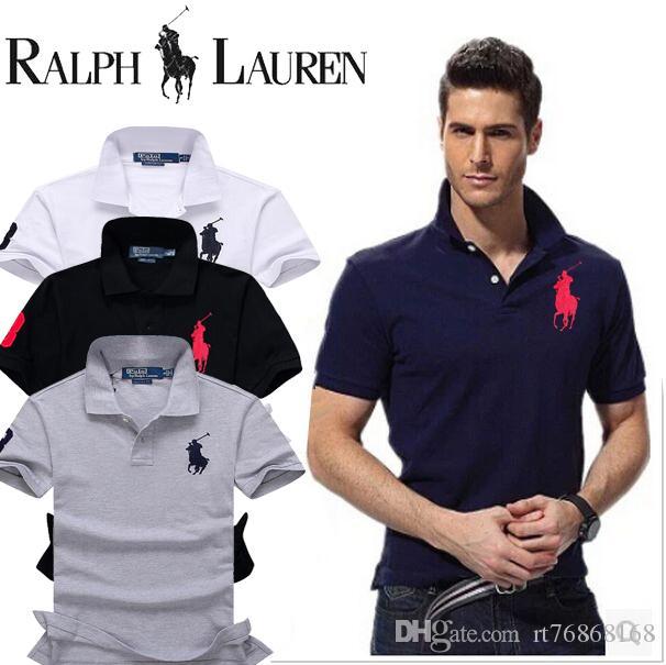 Compre 2019 HOT SELL Camisa Dos Homens De Moda Camisas Dos Homens Casual  Slim Fit Camisa De Algodão De Manga Curta Camisa Masculina N87 Polo Camisa  TAMANHO ... 156b5e947c8c8