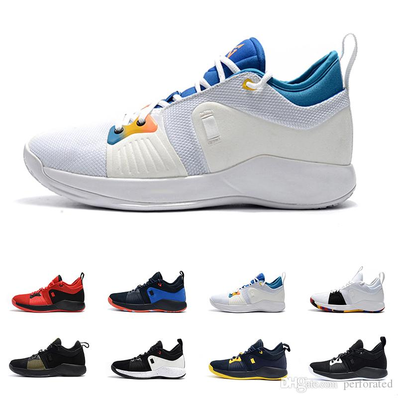 the latest 57965 45f36 Paul George 2 PG II Basketball Shoes For Cheap Top PG2 2S Starry Blue  Orange All White Black Sports Sneakers 40-46