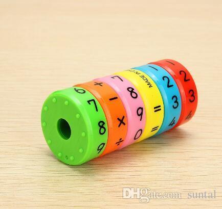أطفال دراسة الرياضيات المغناطيسي اسطوانة المادة تعلم لعبة الذكاء تنوير لعبة أطفال هدية