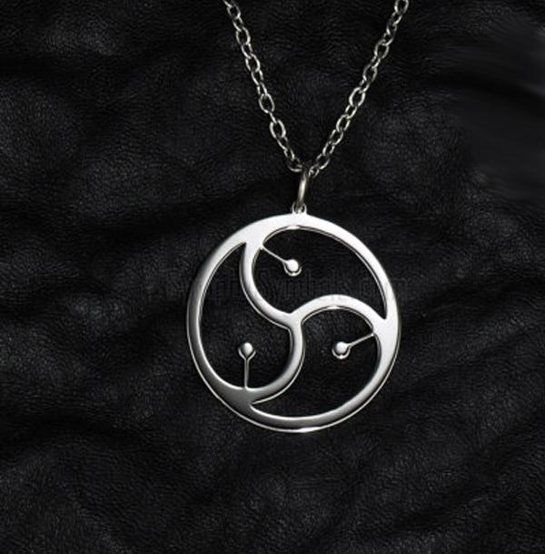 2019 Gold Silver Round BDSM Symbol Pendant Necklace Jewelry For Women Men  From Dtanya