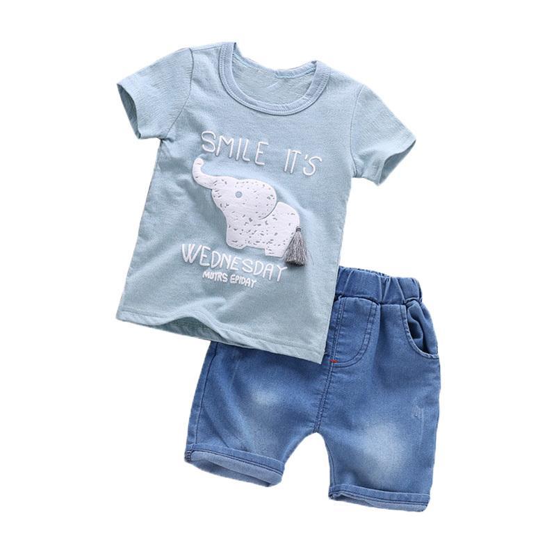 11383fcd9271 2019 BibiCola Summer Children Boy Clothing Sets Baby Boy Clothes ...